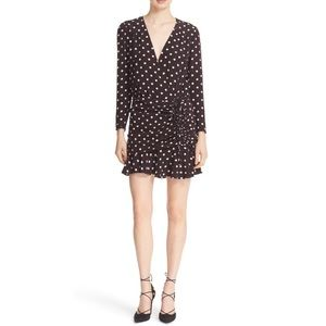 $550 veronica beard lou lou silk polka dot dress 4